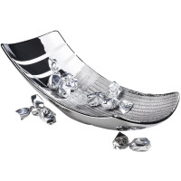 Neustanlo Moderne Dekoschale in der Farbe Silber