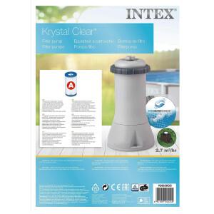 Intex 28604 Krystal Clear Cartridge Filter Pump - Pool...