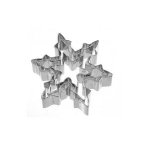 Neustanlo® Keksausstecher Eiskristall 3-tlg Edelstahl